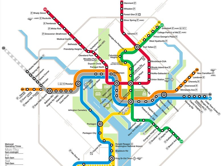 Dc Subway Map With Streets.Getting Around Washington D C Vacation Rentals Near Dc Home